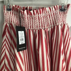 Who What Wear Skirts - Who What Wear (Target) red stripe midi skirt NWT
